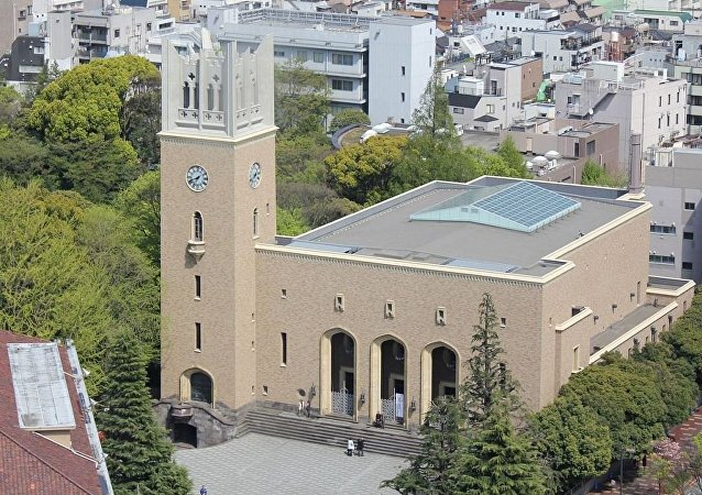 日本早稻田大學在炸彈威脅解除後恢復工作