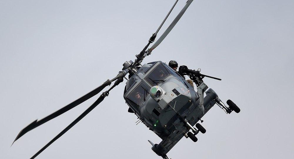 """美国AW-159""""野猫""""舰载反潜直升机"""