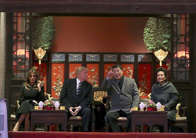 特朗普:在中國玩得很開心