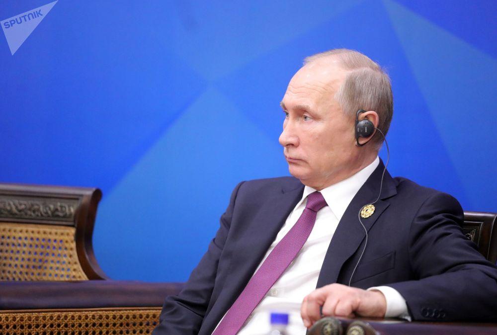 """俄联邦总统普京在越南举行的""""亚太经合组织""""经济体领导人峰会会面期间"""