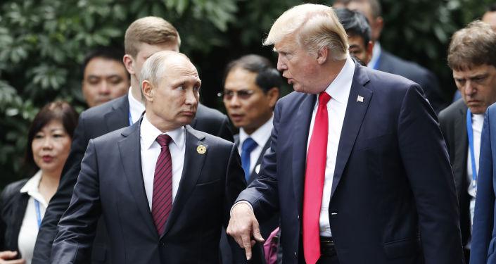 俄罗斯总统普京与美国总统特朗普
