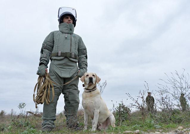 新型排雷防護服「隼」