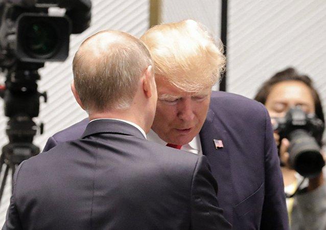 普京與特朗普(資料圖片)