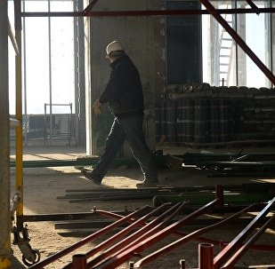 俄薩蘭斯克市一座正在施工的建築發生樓梯倒塌事故