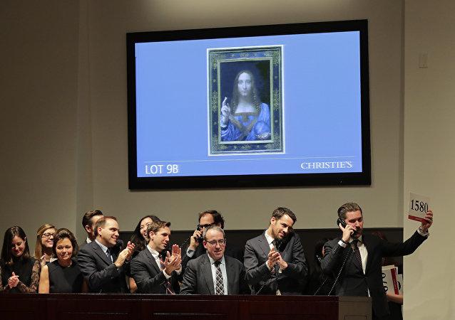 達芬奇畫作《救世主》4億美元拍賣 成最昂貴藝術品