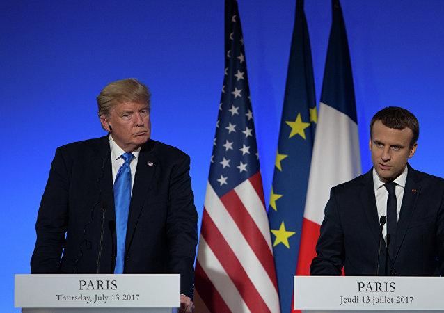 美國總統特朗普和法國總統馬克龍