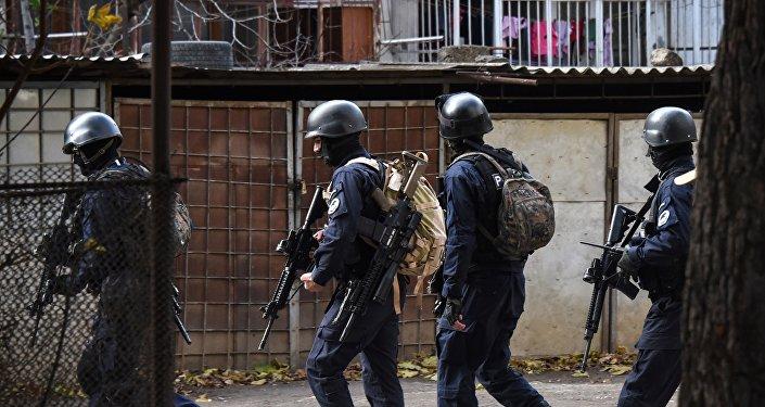 格鲁吉亚首都郊区反恐行动