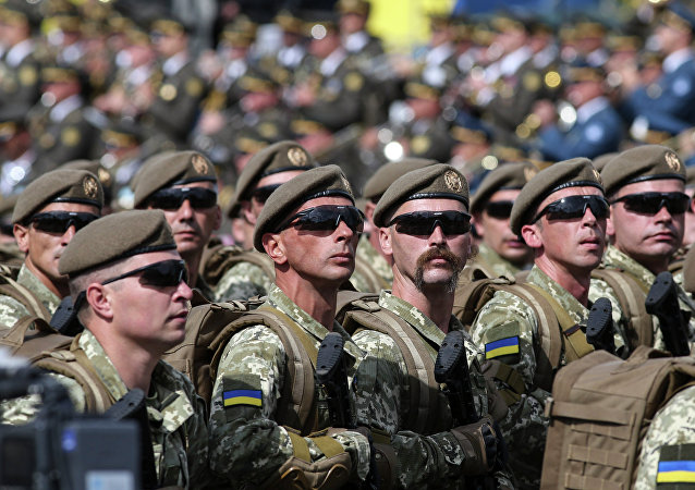 乌克兰军人(资料图片)