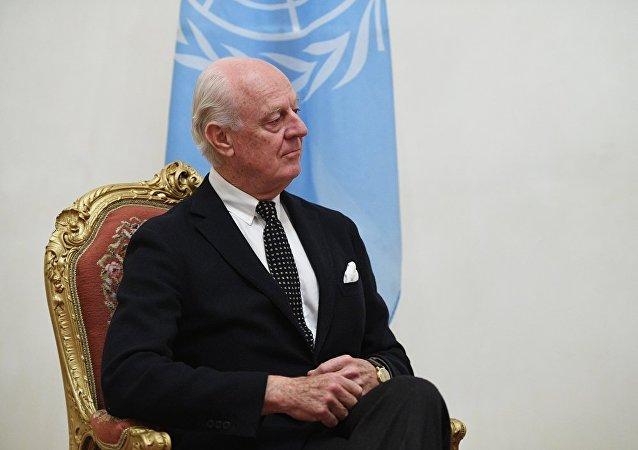 联合国秘书长叙利亚问题特使德米斯图拉