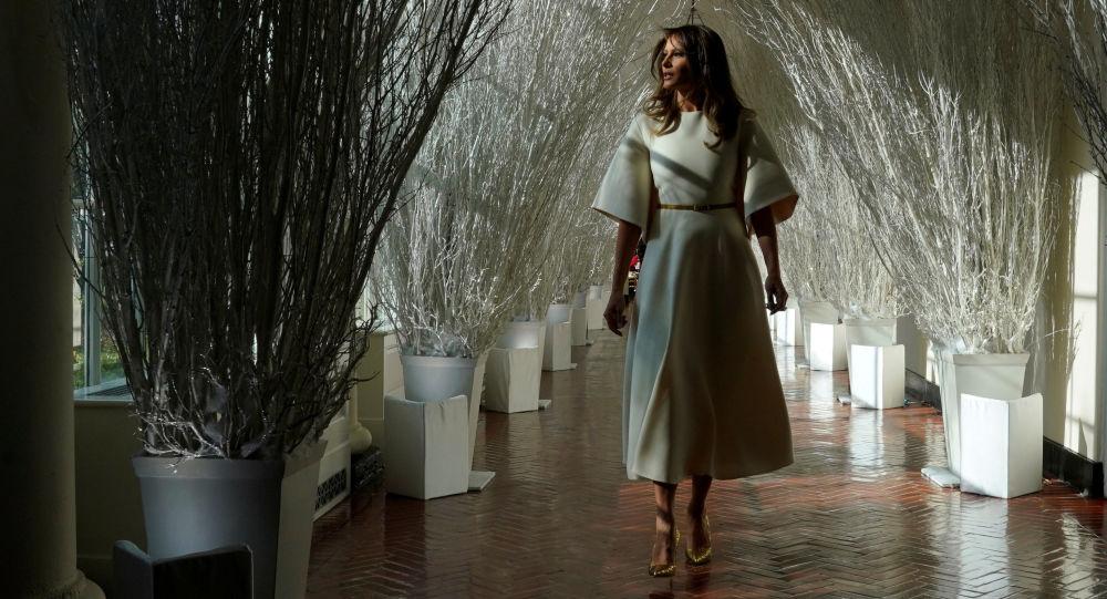 美国第一夫人揭秘白宫圣诞节装饰(视频)