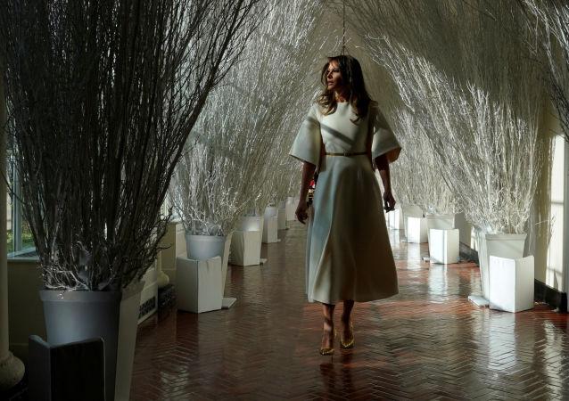 美國第一夫人揭秘白宮聖誕節裝飾(視頻)