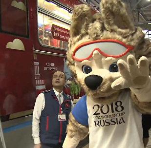 莫斯科地铁推出2018年世界杯主题列车