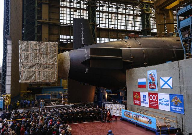 """俄北方舰队司令:""""弗拉基米尔大公""""号核潜艇将于明年进行试验"""