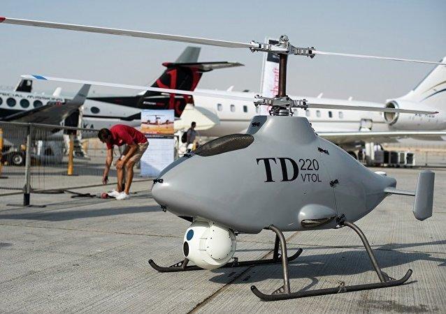 能垂直起降的无人直升机TD 220(资料图片)