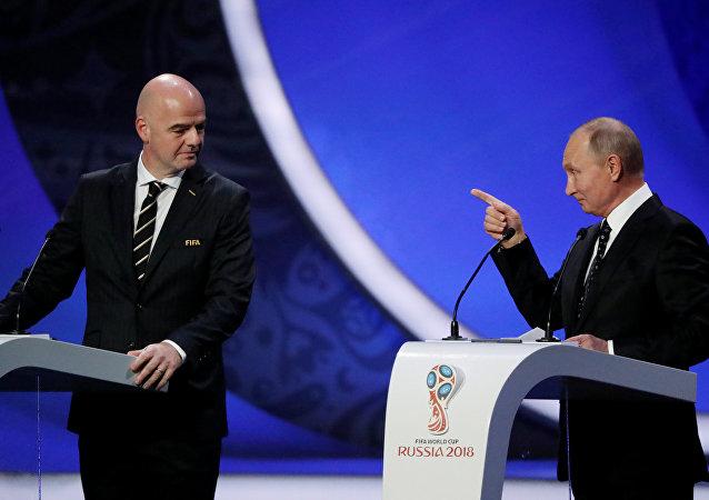 普京:俄有意举办史上水平最高的一届世界杯