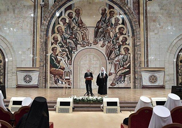 普京希望俄东正教会能够团结国际社会共同复兴叙利亚