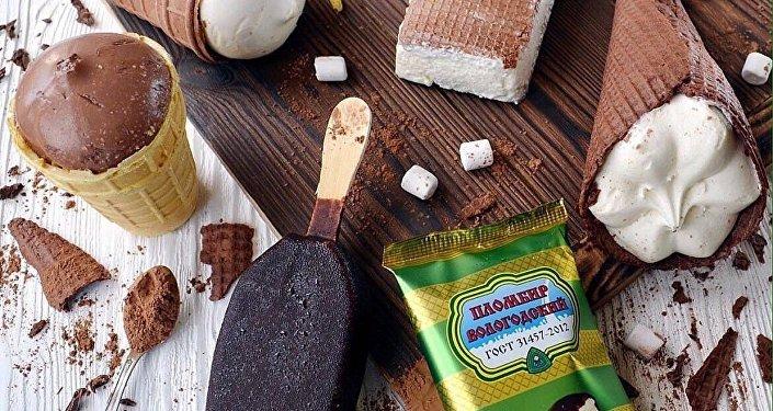 俄罗斯ICEBERRY品牌的冰淇淋