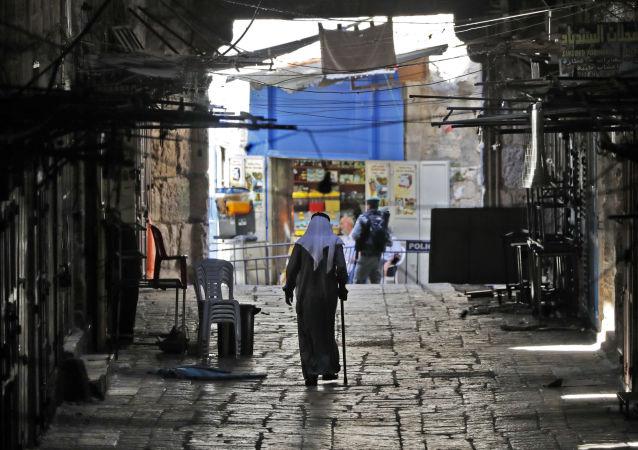 Пожилой палестинец в Старом городе Иерусалима
