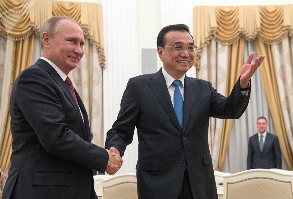 俄羅斯總統普京與中國國務院總理李克強