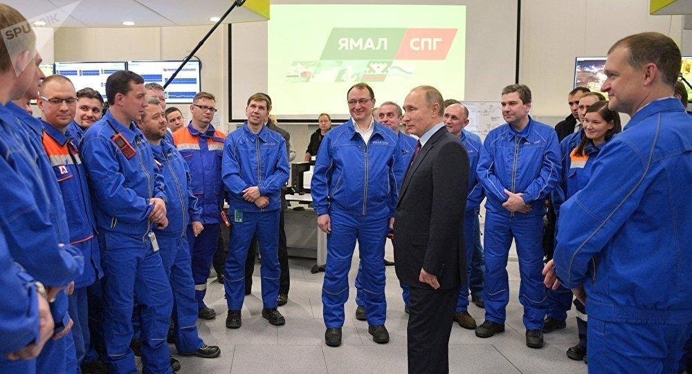 Путин на заводе Ямал СПГ