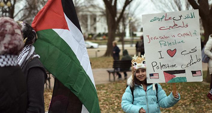 巴勒斯坦人民抗议美国承认耶路撒冷为以色列首都的决定