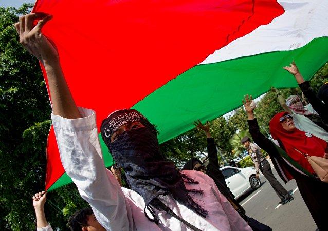 在雅加达至少4万人抗议特朗普承认耶路撒冷是以色列首都的决定