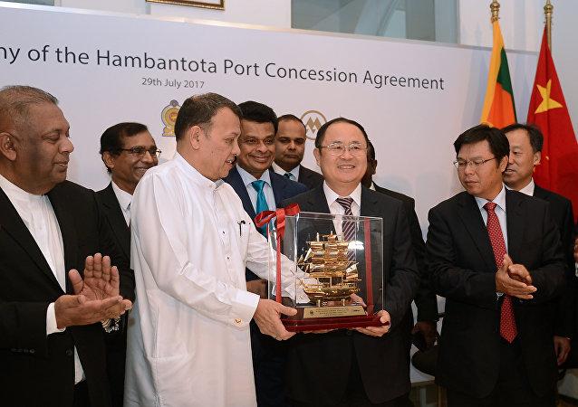 中国在汉班托塔港落了脚