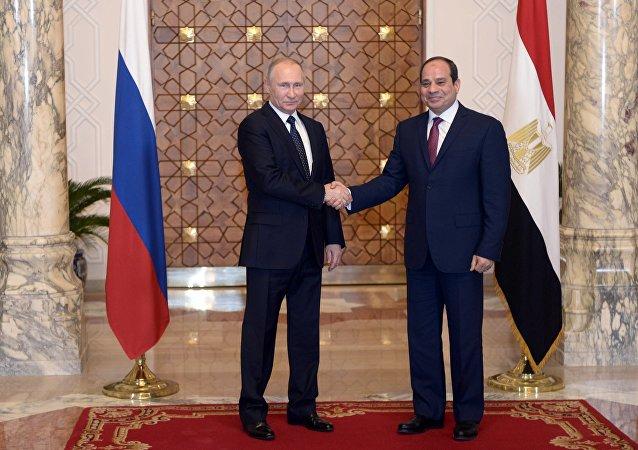 俄羅斯總統普京與埃及總統塞西