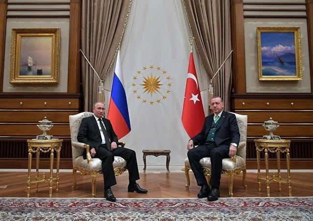 俄羅斯總統普京與土耳其總統埃爾多安