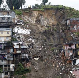 哥伦比亚马尼萨莱斯市泥石流