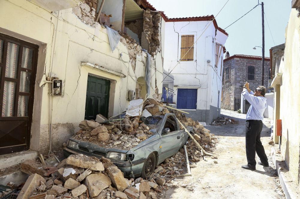 希臘萊斯沃斯島地震