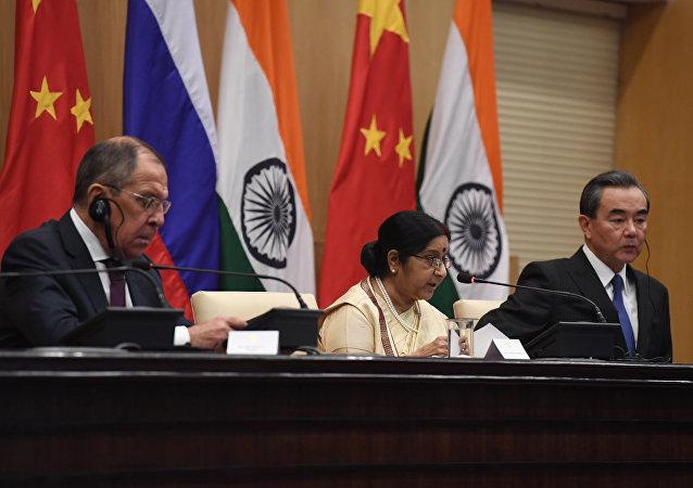 中俄印外長第十六次會晤將於27日在烏鎮舉行