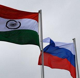 俄羅斯和印度國旗