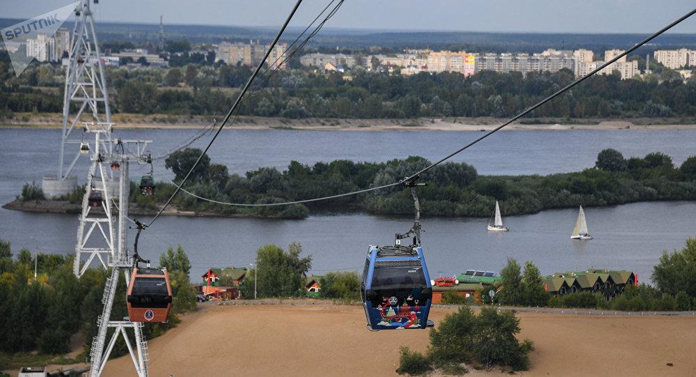 世界第一條國際跨境索道在中俄雙子城間開工建設
