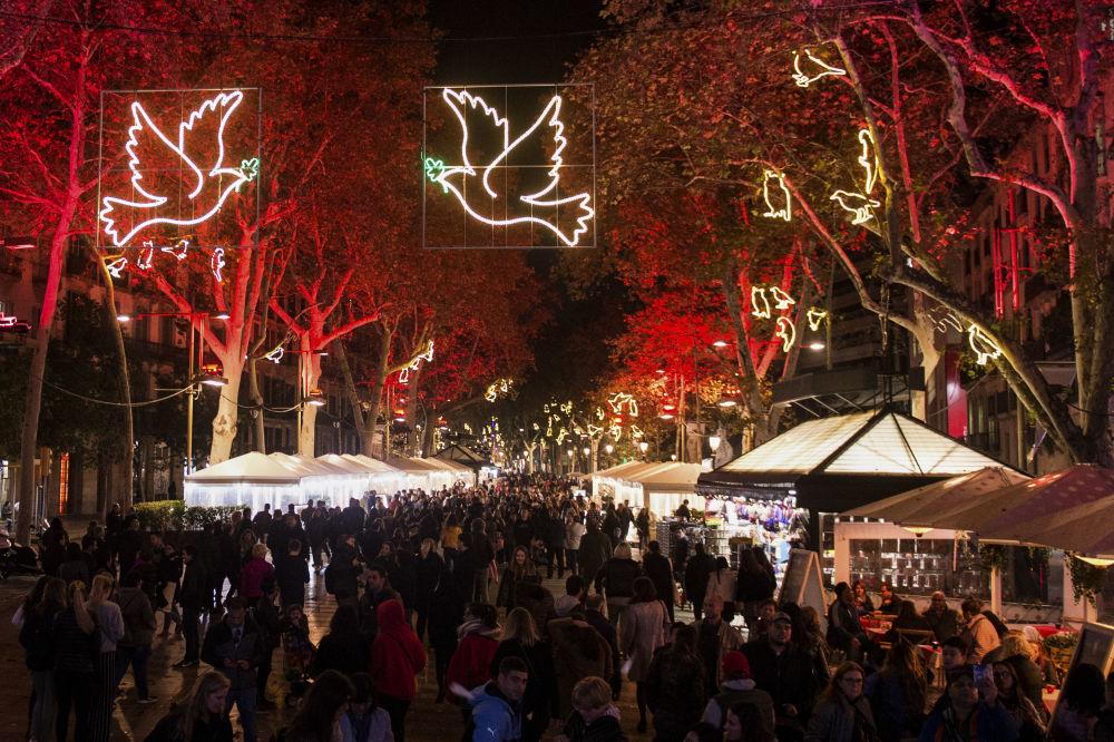 巴塞羅那聖誕彩燈