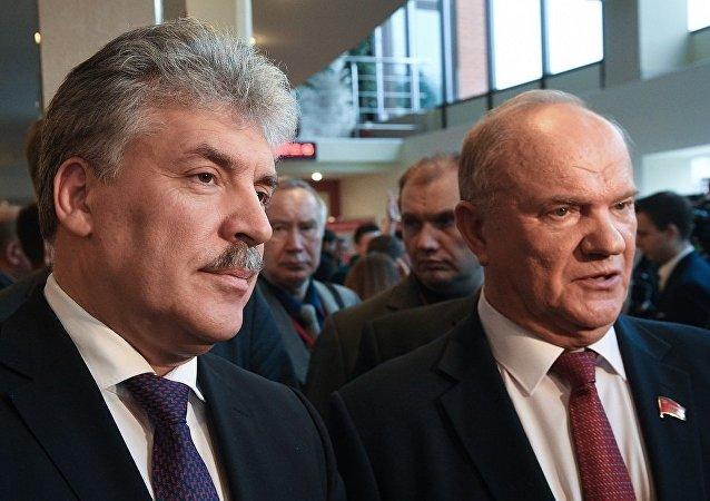久加諾夫與格魯季寧