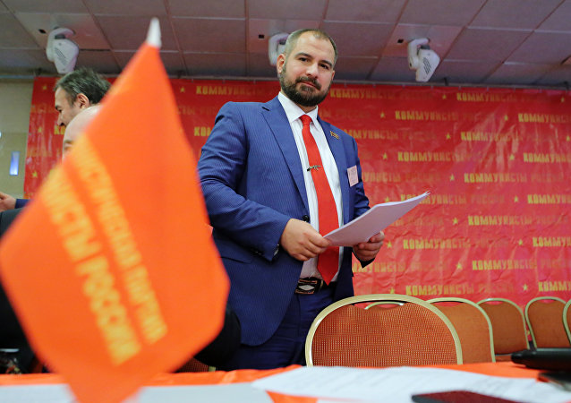 「俄羅斯共產黨人」領導人馬克西姆·蘇萊金