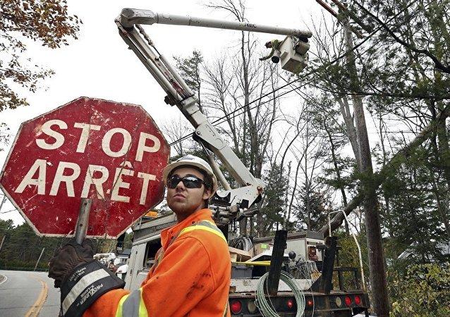 加拿大东南部强风天气导致超过5.7万人家中断电