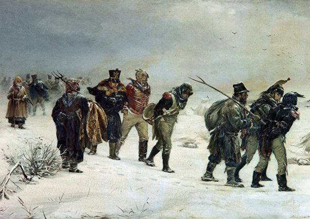 伊拉里翁•普里亞尼什尼科夫1874年的作畫《1812年》