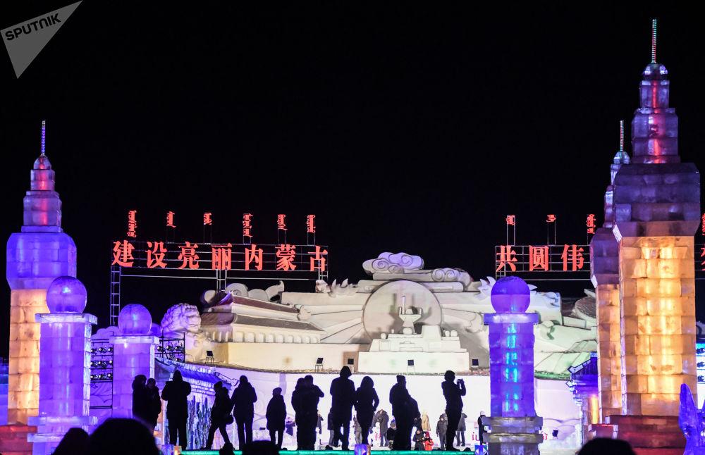 第十九屆中俄蒙國際冰雪節上的遊客