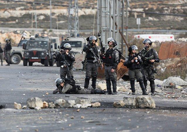 以军在约旦河西岸同巴勒斯坦武装分子交火