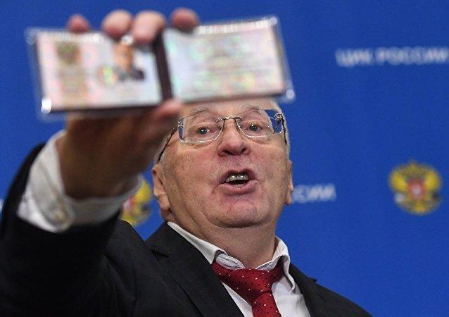俄罗斯自由民主党推选的日里诺夫斯基