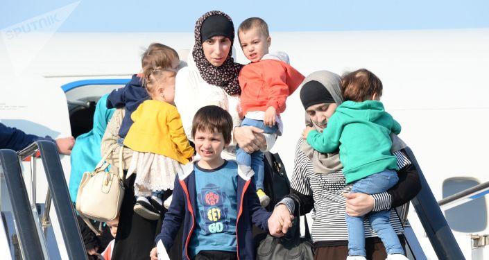 約40名婦女兒童從伊拉克返回達吉斯坦