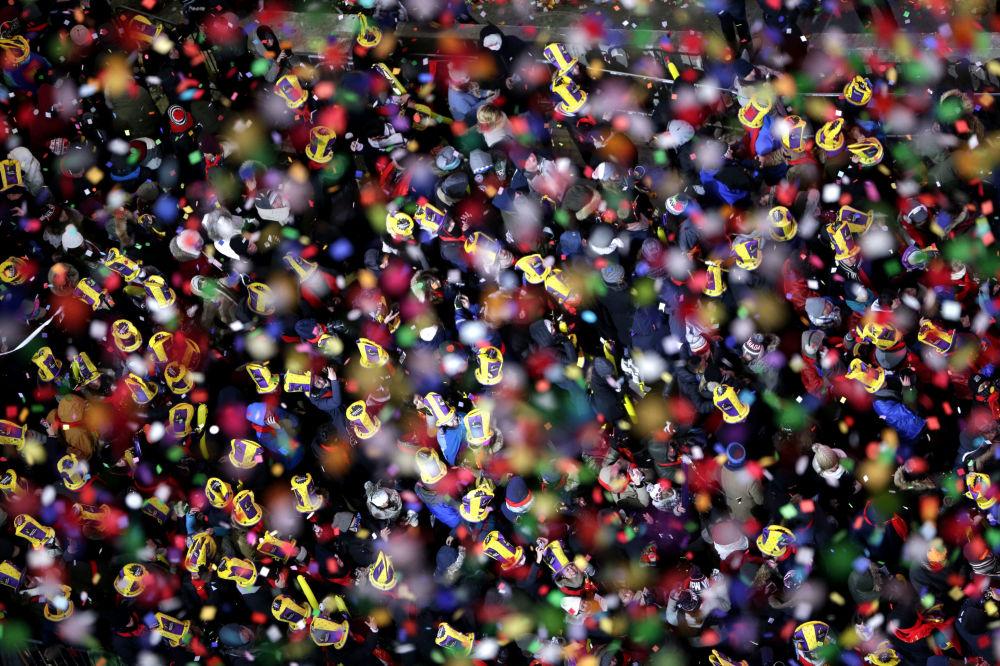 美國紐約新年慶祝活動。