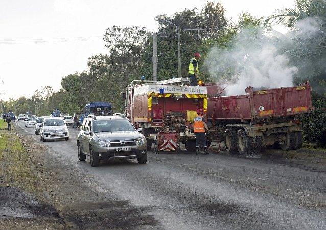 消防车在新喀里多尼亚