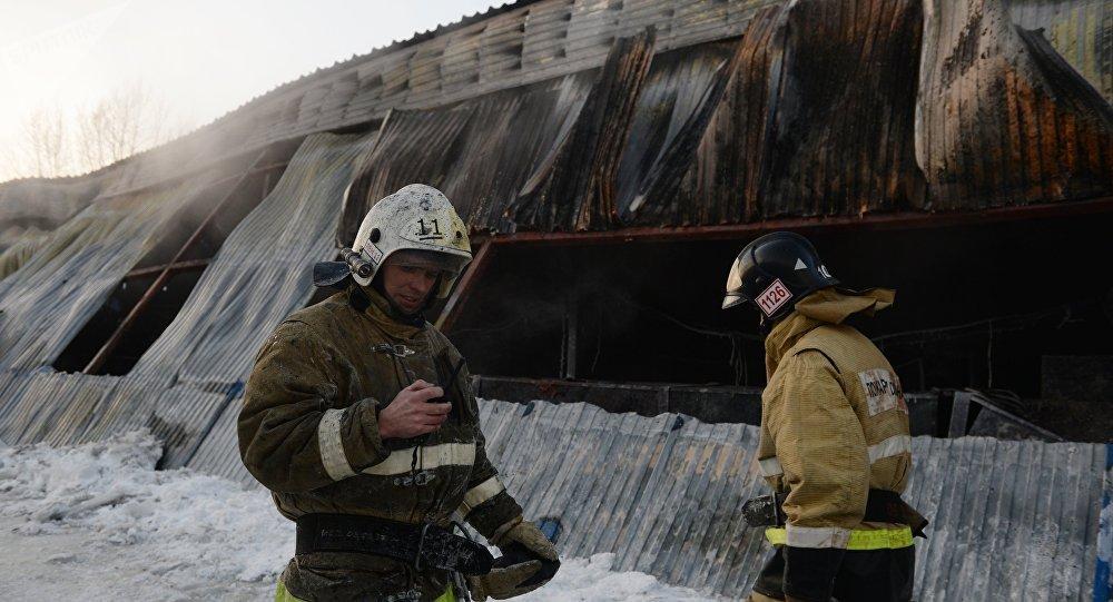新西伯利亚近郊发生火灾