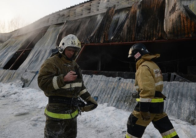 新西伯利亞近郊發生火災