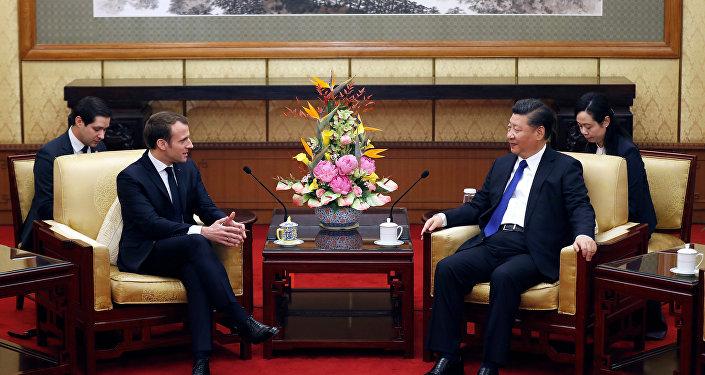 法國總統馬克龍訪華