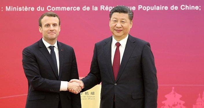中國主席與法國總統