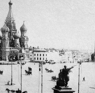 莫斯科紅場,1896年。